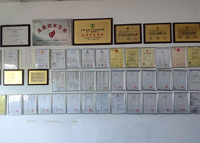 专利证书墙